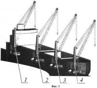 Патент 2426685 Способ обслуживания комплекса, включающего два и более мобильных стреловых портовых крана