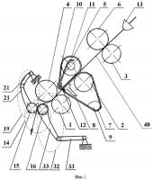 Патент 2418114 Вытяжной прибор прядильной машины