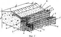Патент 2336389 Способ возведения подпорных стенок из габионов