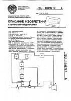 Патент 1049717 Система регулирования температуры пара за котлом при пуске энергоблока