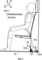 Патент 2657923 Кресло бортпроводника (варианты)