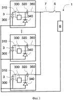 Патент 2667014 Защита источника питания, содержащего ряд батарей, соединенных параллельно, от внешнего короткого замыкания