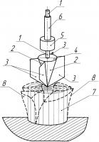 Патент 2606688 Ручной инструмент ударного действия для разделения на части рулона сена