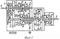 Патент 2656944 Несоосная 24-х ступенчатая вально-планетарная коробка передач