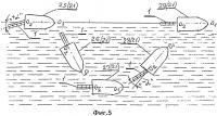 Патент 2622519 Плавниковый лопастной движитель для плавсредств надводного и подводного плавания (варианты)