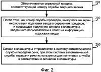 Патент 2609570 Способ и устройство для получения службы передачи речи