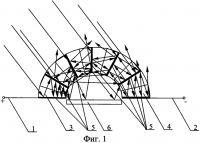 Патент 2615041 Концентратор лучей для солнечной батареи с веерным расположением зеркальных отражающих электродов