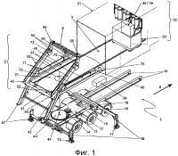 Патент 2644215 Грузовой автомобиль с многоосным шасси для транспортировки, снятия и приема штучных грузов