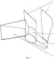 Патент 2327058 Ветряной приемник для пирамидального ветряного двигателя