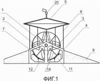 Патент 2631587 Парусная горизонтальная ветросиловая турбина