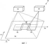 Патент 2562707 Системы и способы захвата изображений большой площади по частям, включающие в себя каскадные камеры и/или калибровочные признаки