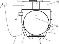 Патент 2640896 Автоматическое устройство для развертывания и свертывания донной антенны под водой и под ледовым покровом