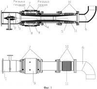Патент 2645635 Струйный аппарат с изменяемым осевым расстоянием между соплом и камерой смешения