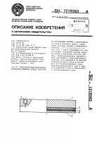 Патент 1219363 Теплоэлектронагревательное устройство штемпеля пресса полусухого прессования кирпича