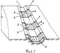 Патент 2658086 Способ устройства водоотводного сооружения