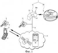 Патент 2320020 Система с подвижным роботом и способ дистанционного управления таким роботом