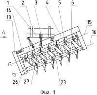 Патент 2618140 Борона дисковая двухследная навесная