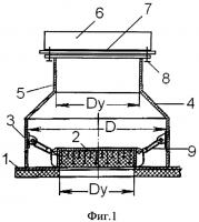 Патент 2549751 Взрывозащитное устройство кочетова с разрывной мембраной