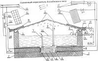 Патент 2655892 Солнечный опреснитель бассейнового типа