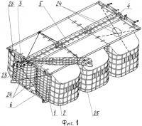 Патент 2349509 Пневмоамортизатор для десантирования грузов