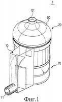 Патент 2308866 Мультициклонное устройство и содержащий его пылесос