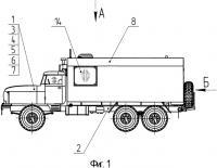 Патент 2486078 Наземный пункт управления на базе шасси специального транспортного средства