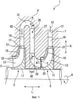 Патент 2518703 Многоступенчатая радиальная турбина