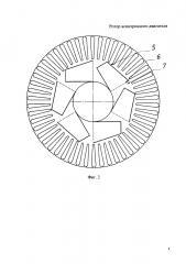 Ротор асинхронного электродвигателя (патент 2668236)