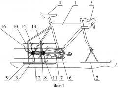 Движитель для снегохода (патент 2526314)