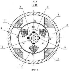 Явнополюсная коллекторная магнитоэлектрическая машина (патент 2414797)