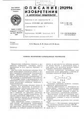 Способ получения карбоцепных полимеров (патент 292996)