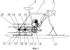 Движитель для снегохода (патент 2523155)