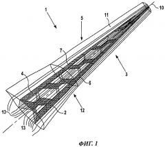 Аэродинамическая конструкция, имеющая аэродинамический профиль, с гофрированным усиливающим элементом (патент 2523726)