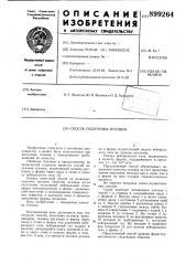 Способ получения отливок (патент 899264)