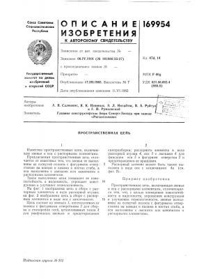 Пространственная цепь (патент 169954)