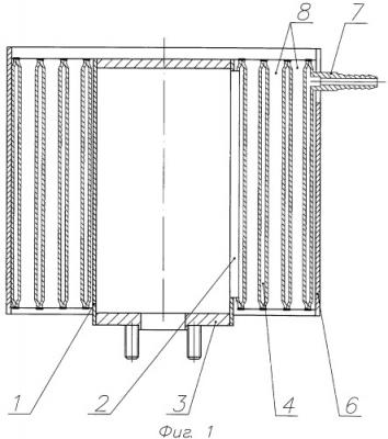 Воздушный охладитель кислородно-водородной смеси (патент 2448319)