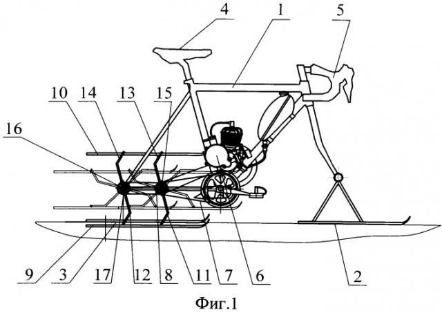 Транспортное средство для движения по снегу (патент 2521151)