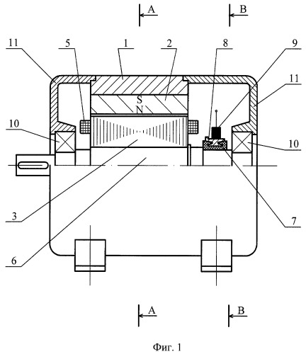 Коллекторная магнитоэлектрическая машина с полюсным якорем (патент 2390088)